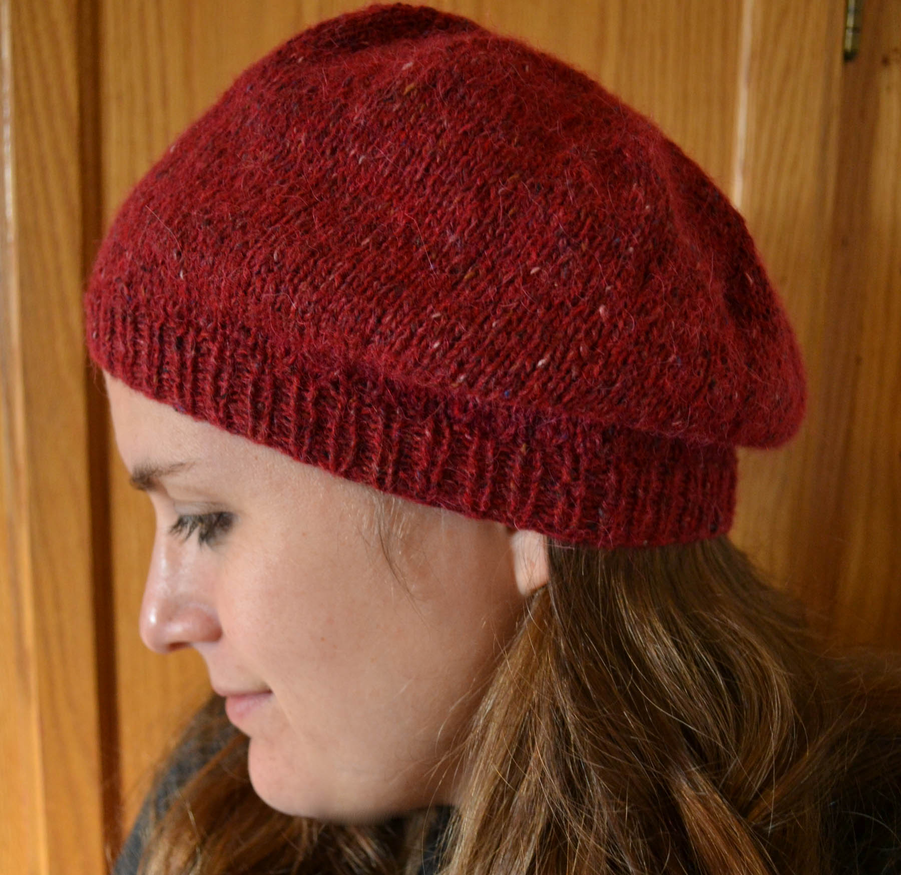 Felted Tweed + Simple Beret = Ab Fab, Darling. – knittingsarah