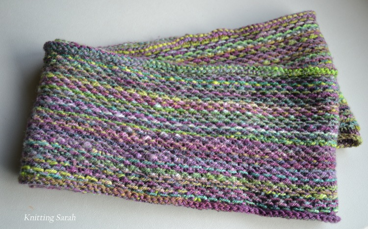 honey cowl handspun 3