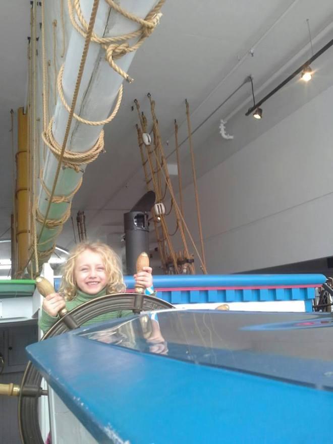 delia drives a boat