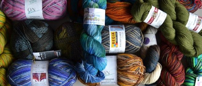 collage sock yarn