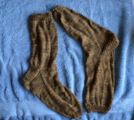 socks on towel