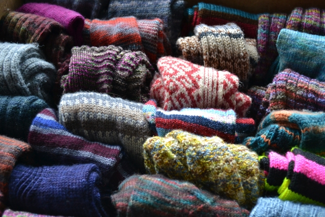 sock drawer closeup
