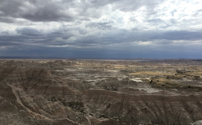 In the Badlands: It Was a Rather Blustery Day