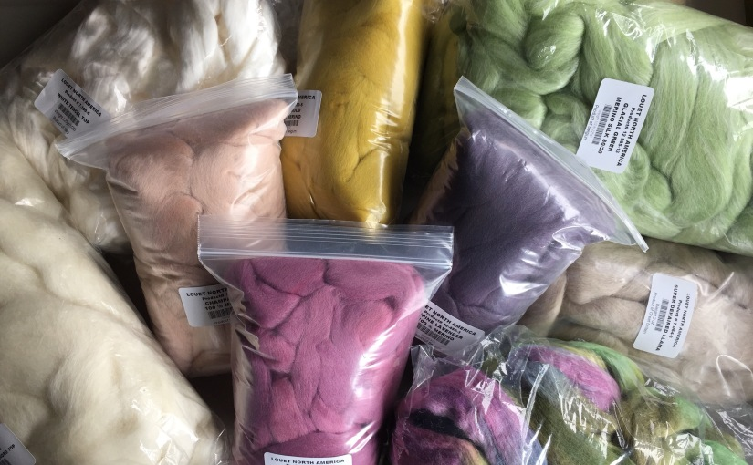 In Review: Louet's June Spinzilla Fiber Pack