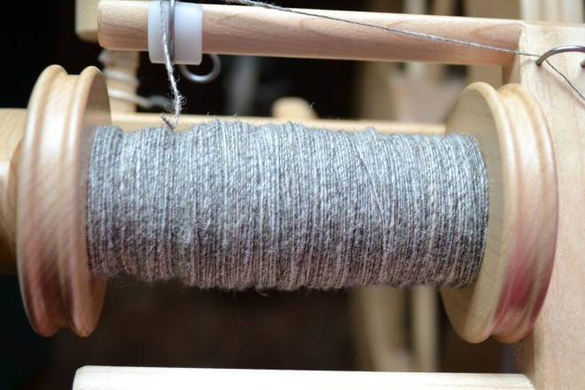 grey wool spun