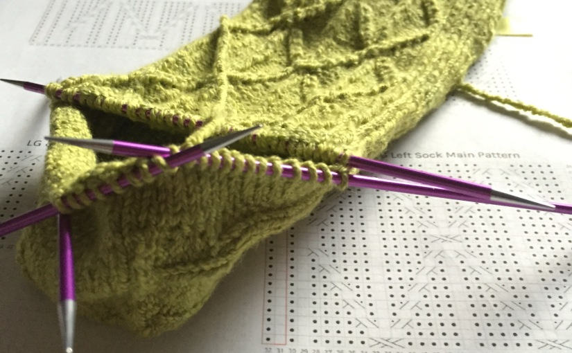 Today on my needles…