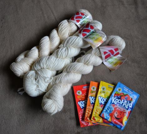 Resolution Dye Yarn like KnittingSarah with KoolAid